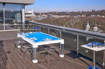 Billiard dining room table
